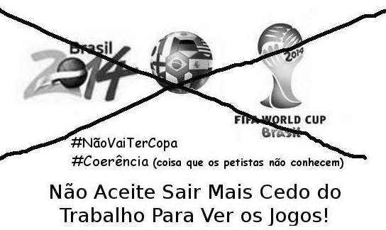 Movimento contra a Copa do Mundo cresce na reta final