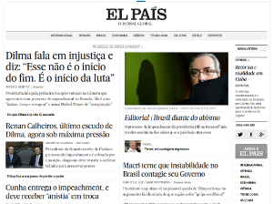 Imprensa internacional a soldo do PT diz que houve golpe no Brasil