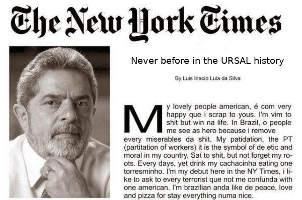 The New York Times, jornal comunista falido, publica artigo de Lula
