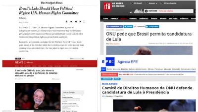 Aparelhada por petistas, ONU tenta intervir no país; mídia comunista internacional repercute