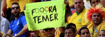 Subversivos que pedem Fora Temer nas Olimpíadas já estão sendo presos
